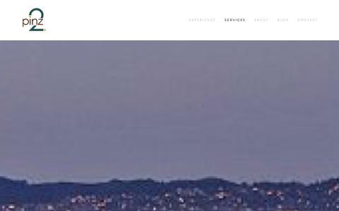 Screenshot of Services Page 2pinz.com - SERVICES Ń 2pinz - captured Jan. 10, 2016