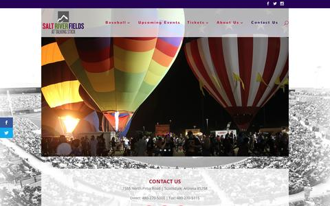 Screenshot of Contact Page saltriverfields.com - Contact Us | Salt River Fields - captured Nov. 18, 2016