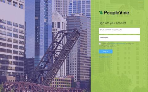 Screenshot of Login Page peoplevine.com - PeopleVine - Control Panel - Manage Your Campaigns and Track Results - captured March 6, 2016