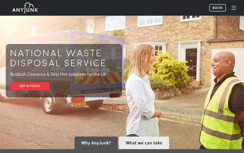 Screenshot of Locations Page anyjunk.co.uk - National Waste Disposal | AnyJunk - captured Nov. 21, 2016
