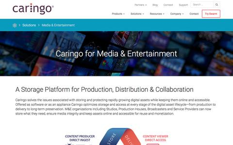 Media & Entertainment | Caringo