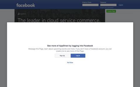 Screenshot of Facebook Page facebook.com - AppDirect - captured June 15, 2016