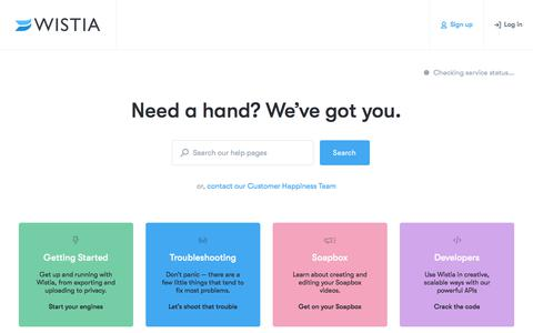 Help Center — Support — Wistia