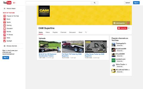 Screenshot of YouTube Page youtube.com - CAM Superline  - YouTube - captured Oct. 22, 2014