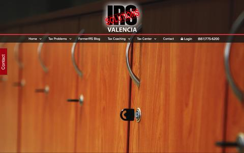 Screenshot of Home Page formerirs.com - IRS Solutions - Valencia - captured June 19, 2015
