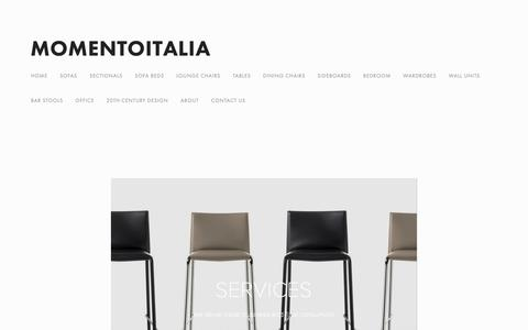 Screenshot of Services Page momentoitalia.com - Modern Italian Furniture New York   Momentoitalia — Modern Italian Furniture   Momentoitalia - captured Nov. 14, 2018