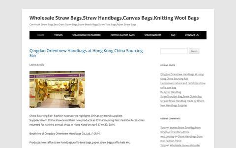 Screenshot of Blog orientnew.com - Wholesale Straw Bags,Straw Handbags,Canvas Bags,Knitting Wool Bags | Cornhusk Straw Bags,Sea Grass Straw Bags,Straw Beach Bags,Straw Tote Bags,Paper Straw Bags - captured Oct. 2, 2014