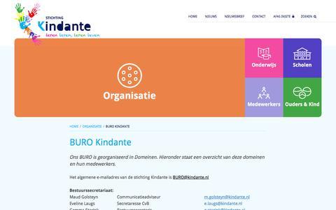Screenshot of Contact Page kindante.nl - Bureau Kindante | Kindante - captured Oct. 14, 2017
