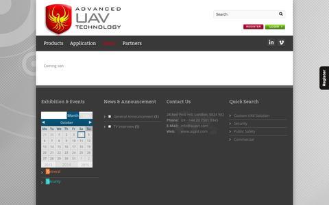 Screenshot of Case Studies Page auavt.com - Advanced UAV Technology Ltd   –  Case Studies - captured Oct. 4, 2014