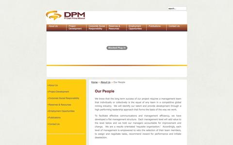 Screenshot of Team Page ptdpm.co.id - Our People - captured Jan. 23, 2016