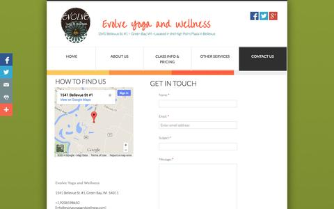 Screenshot of Privacy Page Contact Page evolveyogaandwellness.com - Contact Us - captured Oct. 23, 2014