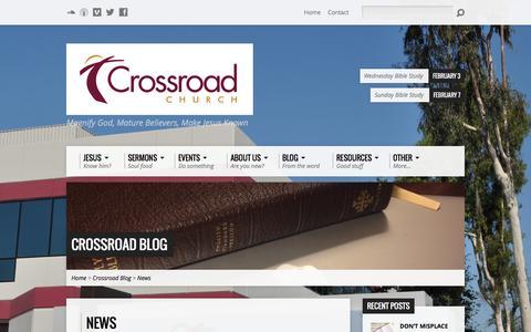 Screenshot of Press Page crossroadoc.org - News - CrossroadOC.org - captured Feb. 1, 2016