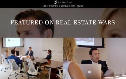 Screenshot of Press Page theplazagroupre.com - PRESS – The Plaza Group - captured Oct. 18, 2018