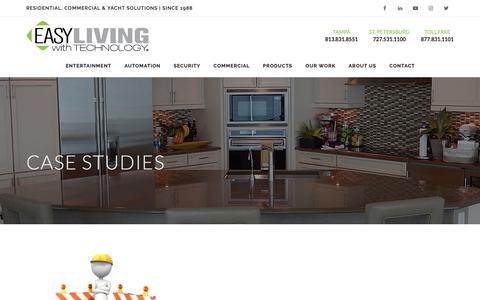Screenshot of Case Studies Page easyliving.net - EASYLiving with Technology - captured Sept. 26, 2018