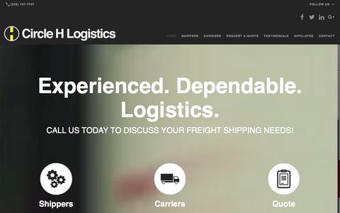 Screenshot of Home Page circlehlogistics.com - Trucking Logistics, Freight Shipping Company: Cullman, AL: Circle H Logistics - captured Jan. 28, 2016