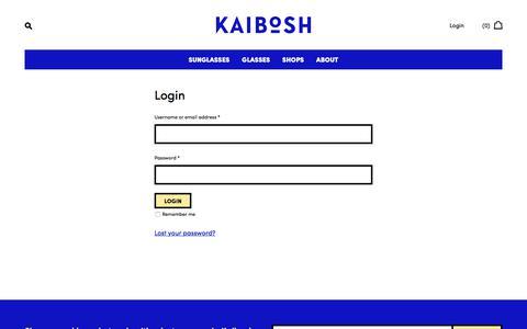 Screenshot of Login Page kaibosh.com - My Account – Kaibosh - captured June 8, 2017
