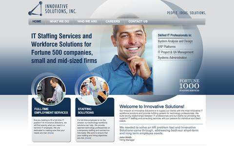 Screenshot of Home Page isistl.com - Innovative Solutions - The very best IT staffing and consulting services - captured Oct. 6, 2014
