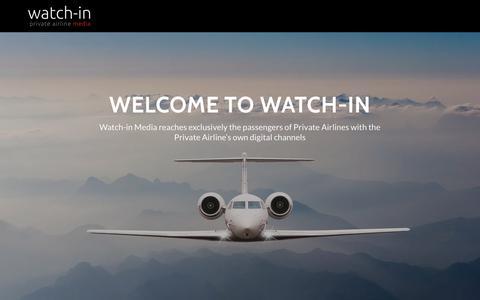 Screenshot of Home Page watch-in.net - Watch-in Media   Watch-in Media - captured Oct. 18, 2018