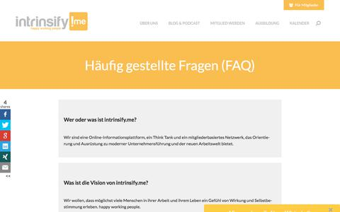 Screenshot of FAQ Page intrinsify.me - Häufig gestellte Fragen (FAQ) | intrinsify.me - captured Oct. 16, 2017