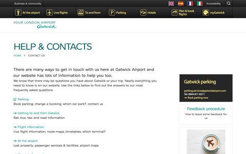 Screenshot of Contact Page gatwickairport.com - Contact us | Gatwick Airport - captured Nov. 2, 2017