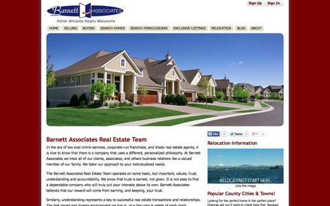 Screenshot of About Page barnettassociates.net - Snohomish County REALTORS® & Real Estate Agents - BarnettAssociates.net - captured Oct. 5, 2014