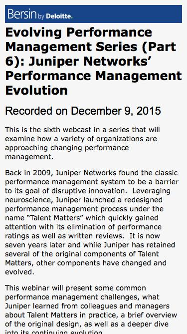 Evolving Performance Management Series (Part 6): Juniper Networks' Performance Management Evolution