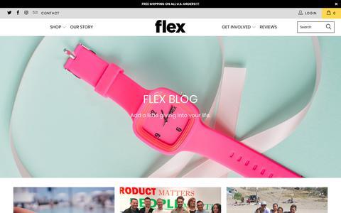 Screenshot of Blog flexwatches.com - Flex Blog | Flex Watches - captured Aug. 15, 2018
