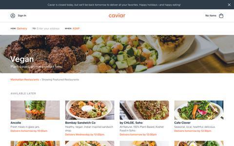 Vegan | Caviar