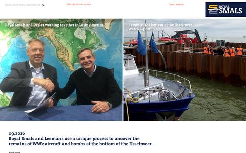 Screenshot of Press Page smals.com - Royal Smals worldwide specialised dredging inland waterways. - captured Nov. 20, 2016