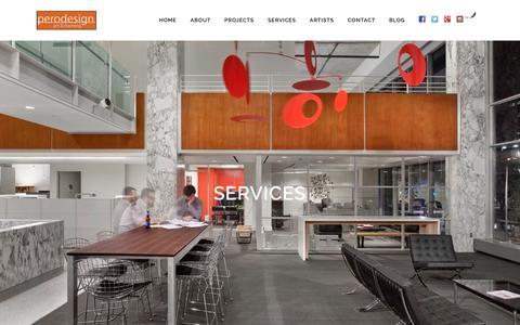 Screenshot of Services Page chrisperodesign.com - perodesign   perodesign Custom Framing & Art Sourcing Services - captured Nov. 15, 2016