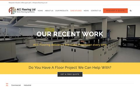 Screenshot of Case Studies Page accflooring.co.uk - Work - ACC Flooring Ltd - captured Nov. 13, 2018