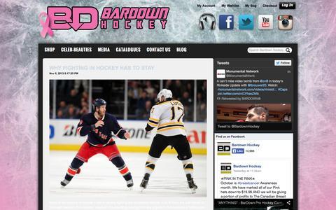 Screenshot of Blog gobardown.com - Bardown Blog Bardown Hockey - captured Oct. 5, 2014