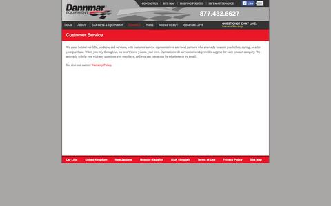 Screenshot of Services Page Support Page dannmar.co.nz - Dannmar Customer Service - captured March 26, 2016