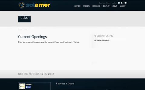 Screenshot of Jobs Page solamor.org - Jobs - Solamor - captured Oct. 9, 2014