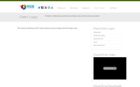 Screenshot of Login Page rgbx.com - Client Login - RGB Technologies - captured Nov. 1, 2014
