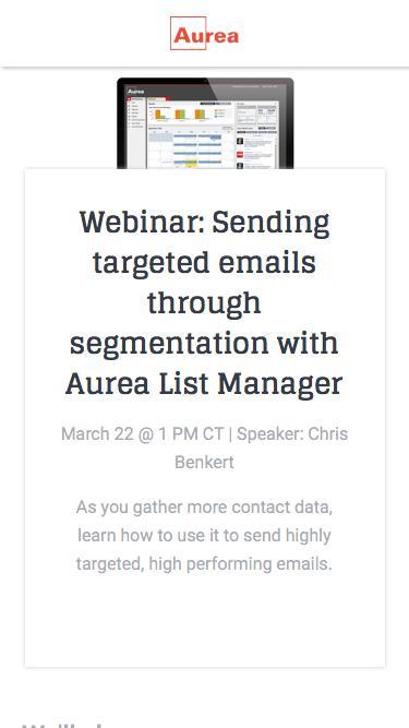 Targeted Messaging: Segmentation | Aurea