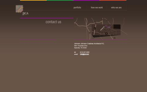 Screenshot of Contact Page jjca.com - Johnson Johnson Crabtree Architects P.C. | Contact - captured Sept. 30, 2014