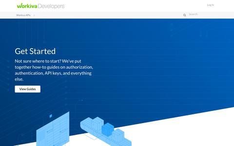 Screenshot of Developers Page workiva.com - Workiva APIs - captured Feb. 5, 2020