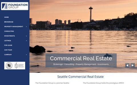 Screenshot of Home Page tfgre.com - Seattle Commerical Real Estate | The Foundation Group - captured Oct. 18, 2018