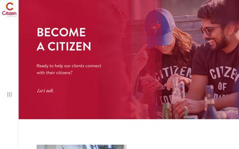 Screenshot of Jobs Page citizenrelations.com - Careers | Citizen Relations - captured Nov. 10, 2018