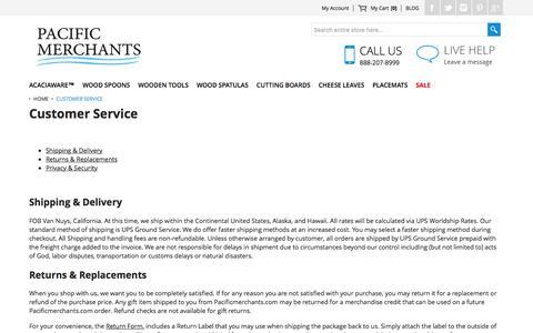 Screenshot of Support Page pacificmerchants.com - Customer Service - captured Oct. 17, 2016