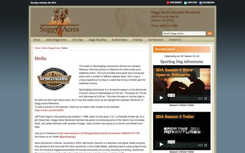 Screenshot of Press Page soggyacres.com - Media | - captured Oct. 26, 2014