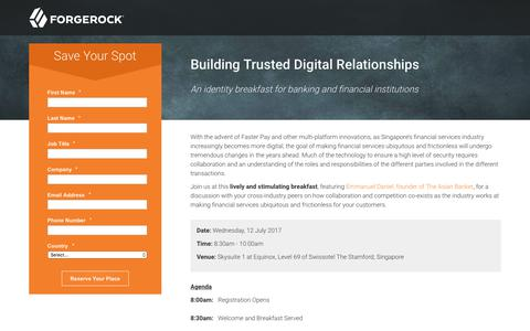 Screenshot of Landing Page forgerock.com - ForgeRock.com - Identity Management, Access Management - captured July 2, 2017