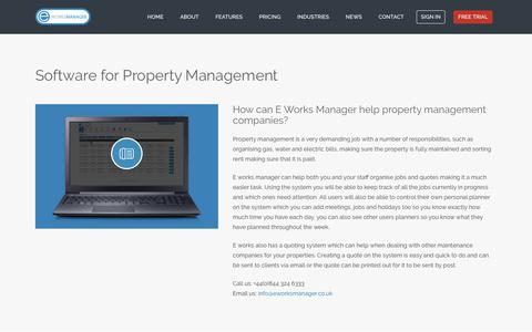 E Works Manager - Software for property management