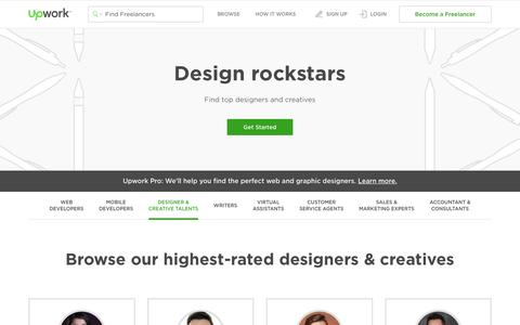 Screenshot of upwork.com - Top Designers For Hire In August 2017 - captured Aug. 7, 2017