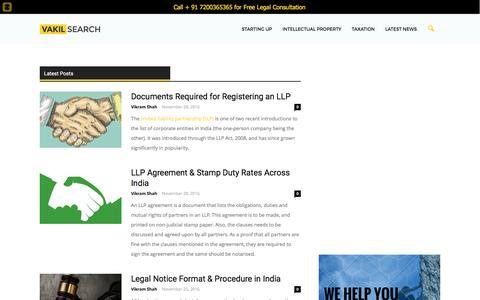 Screenshot of Blog vakilsearch.com - VakilSearch | Legal Advice from Vakilsearch - captured Nov. 28, 2016