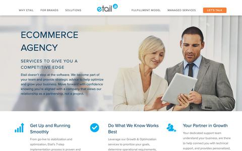Screenshot of Support Page etailsolutions.com - Ecommerce Agency | Multi Channel Ecommerce Management - captured Sept. 29, 2018