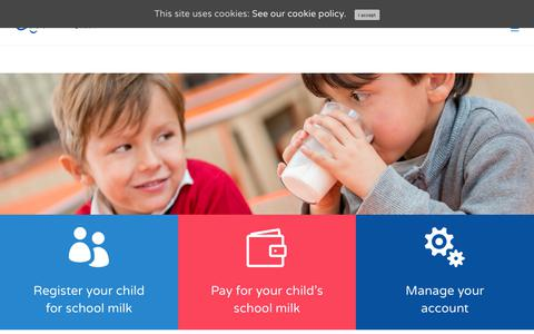 Screenshot of Home Page coolmilk.com - Cool Milk - the UK's leading school and nursery milk supplier - captured Sept. 25, 2018