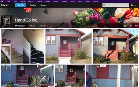 Screenshot of Flickr Page flickr.com - Flickr: HandiCo Inc.'s Photostream - captured Oct. 22, 2014