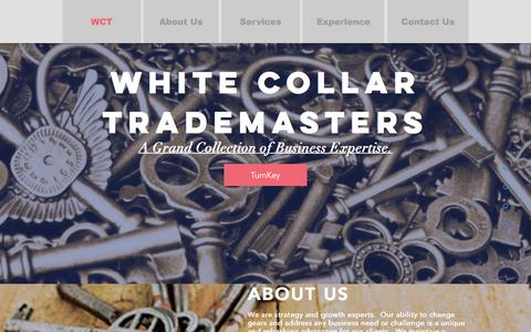 Screenshot of Home Page whitecollartrademasters.com - mysite - captured Dec. 11, 2016